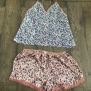 Victoria's Secret Cami and shorts cheetah set